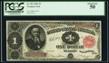 Large Size:Treasury Notes, Fr. 351 $1 1891 Treasury Note PCGS About New 50.. ...