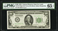 Small Size:Federal Reserve Notes, Fr. 2152-H $100 1934 Dark Green Seal Federal Reserve Note. PMG Gem Uncirculated 65 EPQ.. ...