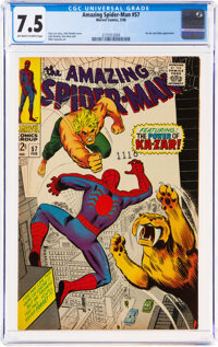 The Amazing Spider-Man #57 (Marvel, 1968) CGC VF- 7.5 Off-white to white pages