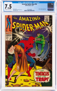 The Amazing Spider-Man #54 (Marvel, 1967) CGC VF- 7.5 Off-white to white pages