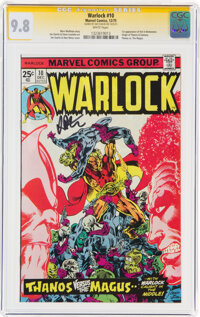 Warlock #10 Signature Series: Jim Starlin (Marvel, 1975) CGC NM/MT 9.8 White pages