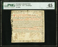 Colonial Notes:Georgia, Georgia 1773 20 Shillings Certificate Fr. GA-48 PMG Choice Extremely Fine 45.. ...