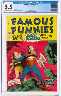 Famous Funnies #211 (Eastern Color, 1954) CGC FN- 5.5 Off-white to white pages