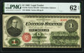 Fr. 16c $1 1862 Legal Tender PMG Uncirculated 62 EPQ