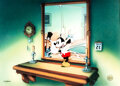"""Animation Art:Limited Edition Cel, """"Thru the Mirror"""" Mickey Mouse Limited Edition Cel #350/35..."""