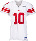 Football Collectibles:Uniforms, 2005 Eli Manning Game Worn, Signed New York Giants Jersey ...
