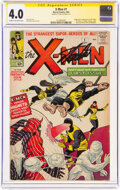 Silver Age (1956-1969):Superhero, X-Men #1 Signature Series (Marvel, 1963) CGC VG 4.0 Cream to off-white pages....