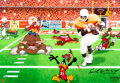 """Animation Art:Limited Edition Cel, """"The Unstoppable Earl Campbell"""" Limited Edition Cel Signed..."""