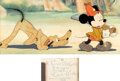 Animation Art:Production Cel, The Pointer Mickey Mouse and Pluto P...