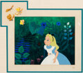 Animation Art:Production Cel, Alice in Wonderland Alice and Bread-...