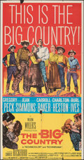 "Movie Posters:Western, The Big Country (United Artists, 1958). Folded, Fine-. Trimmed Three Sheet (41"" X 78.25""). Western.. ..."