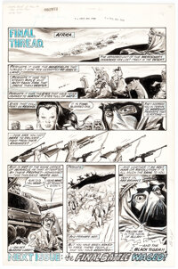 George Perez and Sonny Trinidad Deadly Hands of Kung Fu #30 Story Page 18 Original Art (Marvel, 1976)