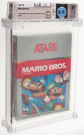 Video Games:Nintendo, Mario Bros. - Wata 8.5 A+ Sealed [1987 Silver box], 2600 Atari 1983 USA....