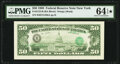 Third Printing on Back Error Fr. 2123-B $50 1988 Federal Reserve Note. PMG Choice Uncirculated 64 EPQ*