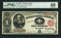 Fr. 349 $1 1890 Treasury Note PMG Extremely Fine 40