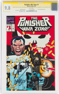 Modern Age (1980-Present):Superhero, The Punisher: War Zone #1 Signature Series: Stan Lee and Others (Marvel, 1992) CGC NM/MT 9.8 White pages....