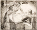 Animation Art:Production Drawing, Superman Lois Lane, Clark Kent, and ...