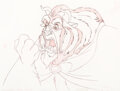 Animation Art:Production Drawing, Beauty and the Beast The Beast Anima...