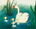 Animation Art:Production Cel, The Ugly Duckling Production Cel Cou...