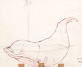 Animation Art:Production Drawing, Pinocchio Monstro the Whale Animation Drawing (Walt Disney, 1940). ...
