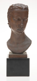 Sculpture, Robert Wlérick (French, 1882-1944). Untitled, circa 1930. Patinated bronze . 14-1/4 x 7-1/4 x 8-3/4 inches (36.2 x 18.4 ...