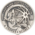 Explorers:Space Exploration, Space Shuttle Challenger (STS-41-C) Flown Silver Robbins Medallion, Serial Number 8F, with a Signed Presentation C...