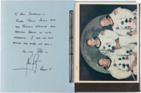Neil Armstrong Personal Autograph Letter Signed to USS Hornet Captain Carl J. Seiberlich ins