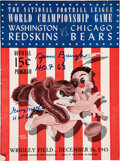 Football Collectibles:Programs, 1943 NFL Championship Game Program Signed by Sammy Baugh and George McAfee - Bears over Redskins. ...
