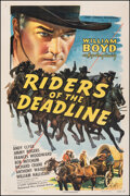 """Movie Posters:Western, Riders of the Deadline (United Artists, 1943). Fine+ on Linen. One Sheet (27.25"""" X 41""""). Western.. ..."""