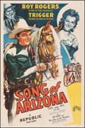 """Movie Posters:Western, Song of Arizona (Republic, 1946). Fine/Very Fine on Linen. One Sheet (27"""" X 41""""). Western.. ..."""