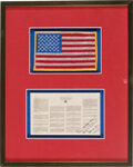 Explorers:Space Exploration, Apollo 12 Flown Framed Space Treaty, Directly from the Ala...
