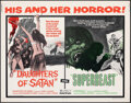 "Movie Posters:Horror, Daughters of Satan/Superbeast Combo (United Artists, 1972). Rolled, Very Fine-. Half Sheet (22"" X 28""). Horror.. ..."