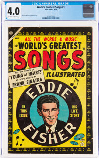 World's Greatest Songs #1 (Atlas, 1954) CGC VG 4.0 Off-white to white pages