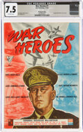 Golden Age (1938-1955):War, War Heroes #1 Pennsylvania Pedigree (Dell, 1942) CGC VF- 7.5 Off-white pages....