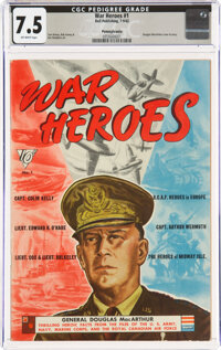 War Heroes #1 Pennsylvania Pedigree (Dell, 1942) CGC VF- 7.5 Off-white pages