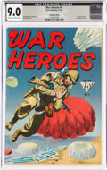 Golden Age (1938-1955):War, War Heroes #4 Pennsylvania Pedigree (Dell, 1943) CGC VF/NM 9.0 Off-white to white pages....