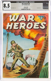 War Heroes #9 Carson City Pedigree (Dell, 1944) CGC VF+ 8.5 Off-white to white pages