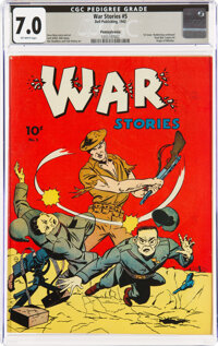 War Stories #5 Pennsylvania Pedigree (Dell, 1942) CGC FN/VF 7.0 Off-white pages