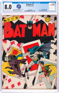 Batman #11 (DC, 1942) CGC VF 8.0 Cream to off-white pages