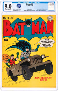 Batman #12 (DC, 1942) CGC VF/NM 9.0 Off-white to white pages