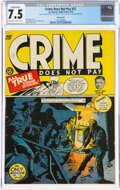 Golden Age (1938-1955):Crime, Crime Does Not Pay #27 Pennsylvania Pedigree (Lev Gleason, 1943) CGC Conserved VF- 7.5 Off-white to white pages....