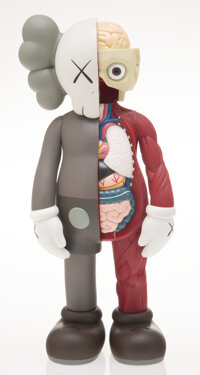 KAWS (b. 1974) Dissected Companion, 2006 Painted cast vinyl 14-3/4 x 6-1/2 x 3-1/2 inches (37.5 x 16.5 x 8.9 cm) Sta
