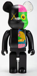 Collectible, KAWS X BE@RBRICK. Dissected Companion 1000% (Black), 2010. Painted cast vinyl. 28 x 13-1/4 x 9-1/2 inches (71.1 x 33.7 x...
