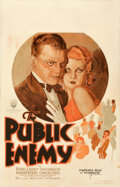 """Movie Posters:Crime, The Public Enemy (Warner Bros., 1931). Fine+ on Paper. Window Card (14"""" X 22"""").. ..."""