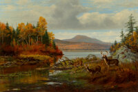 Arthur Fitzwilliam Tait (American, 1819-1905) Late Autumn, Long Lake, Hamilton Co., New York, Adiron