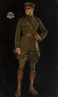 Paintings, Joseph Christian Leyendecker (American, 1874-1951). Soldier's Pride, House of Kuppenheimer advertisement, 1916-1917. Oil...