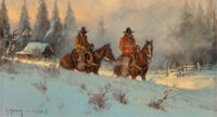 G. (Gerald Harvey Jones) Harvey (American, 1933-2017) Colorado Morning, 1980 Oil on canvas 9 x 12 inches (22.9 x 30.5