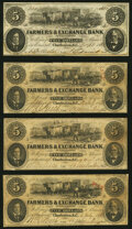 Obsoletes By State:South Carolina, Charleston, SC- Farmers & Exchange Bank of Charleston $5 (4) 1853-61 Very Good-Fine or Better.. ... (Total: 4 notes)