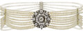 Estate Jewelry:Necklaces, Diamond, Cultured Pearl, Gold, Silver Necklace. ...