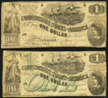 Confederate Notes:1862 Issues, T44 $1 1862 PF-1 Cr. 339 Very Good-Fine;. T45 $1 1862 PF-2 Cr. 342 Very Good-Fine.. ... (Total: 2 notes)